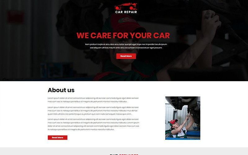Car Repair - Unbounce template