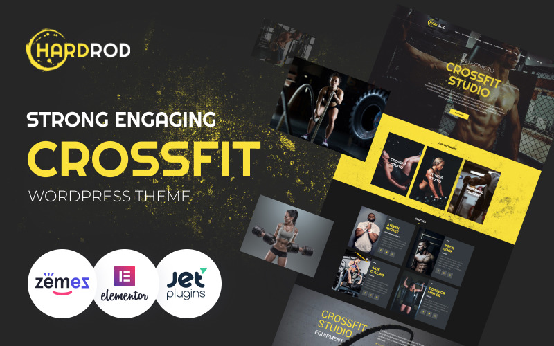 Hardrod - Tema WordPress per fitness e bodybuilding dinamite