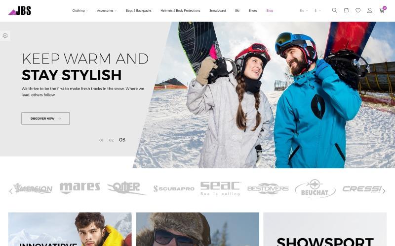 JBS - Thème PrestaShop pour équipements de sports d'hiver