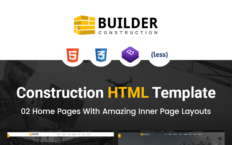 Строитель - HTML шаблон сайта строительной компании
