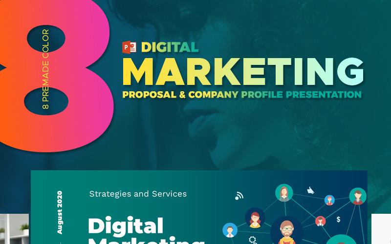 Agencja marketingu cyfrowego - szablon PowerPoint