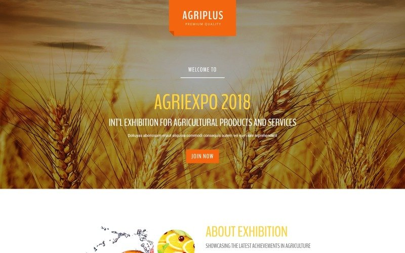 Agriplus - Exposition agricole impressionnante avec modèle de page de destination Novi Builder intégré