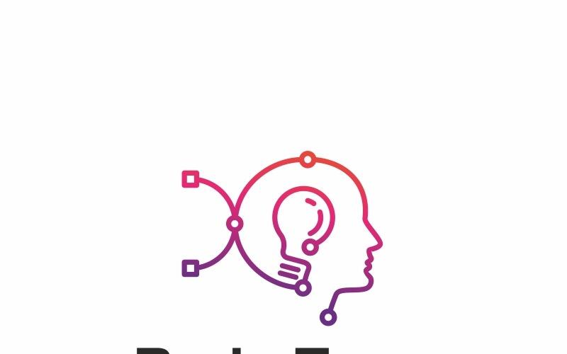 Brain Edit - шаблон логотипа