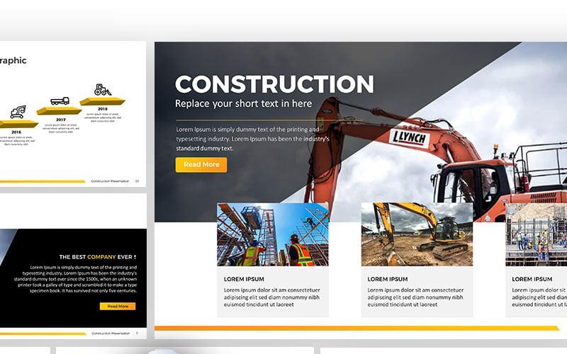 Budowa - szablon PowerPoint