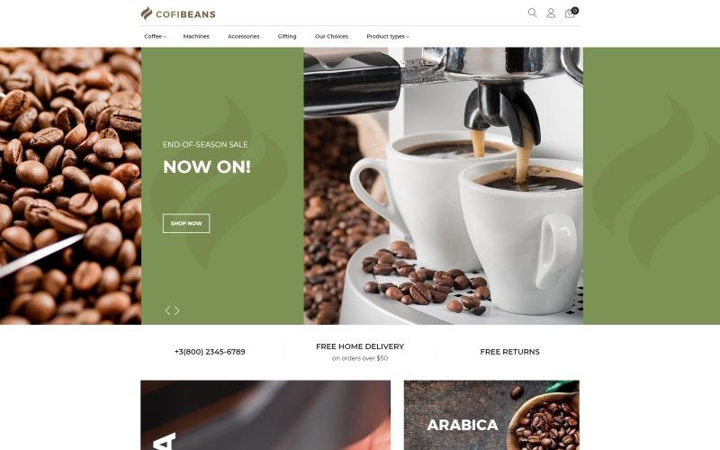 CofiBeans - téma Magento pro kavárny AMP