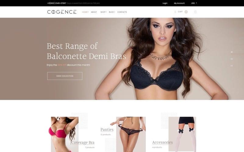 Cogence - Tema WooCommerce para tienda de lencería