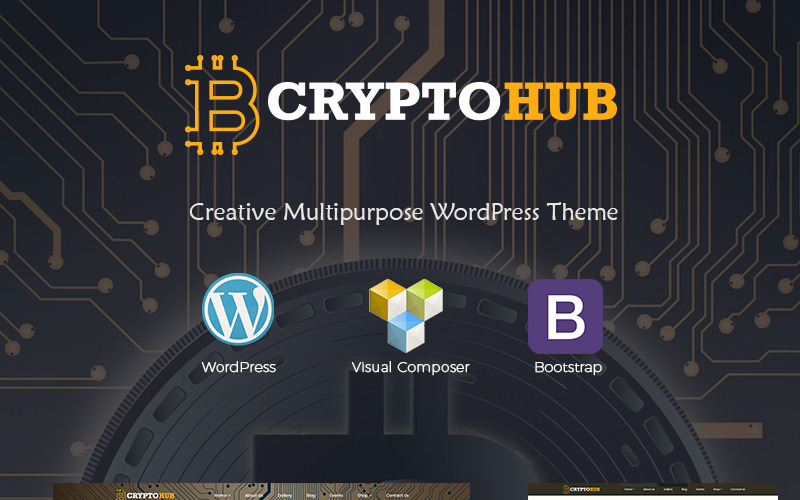 CryptoHub - тема WordPress для криптовалюты