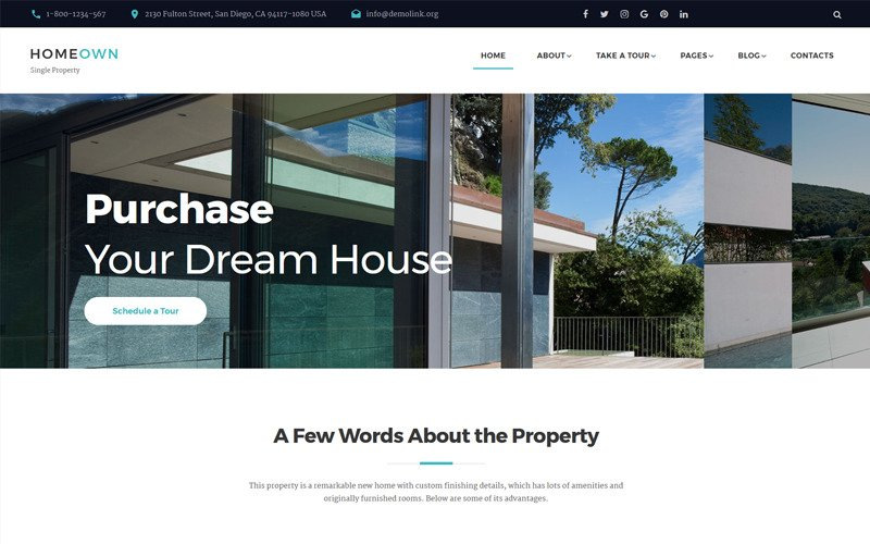 HOMEOWN - Luxury Single Property Selling Company Multipage HTML Website Template