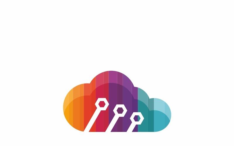 Красочное облако - шаблон логотипа