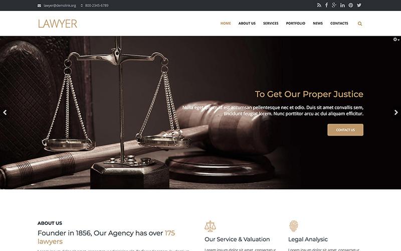 Lawyer Firm - Premium Drupal Template