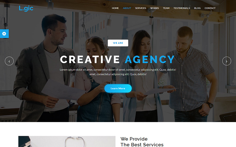Logic - Material Design Agency Website Template