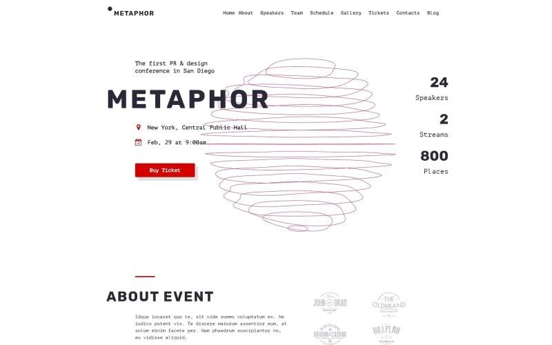 Metaphor - Creative Event Planner WordPress Theme