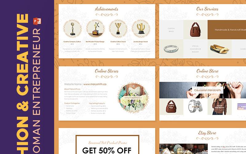 Katalog mody i kreatywności - szablon PowerPoint