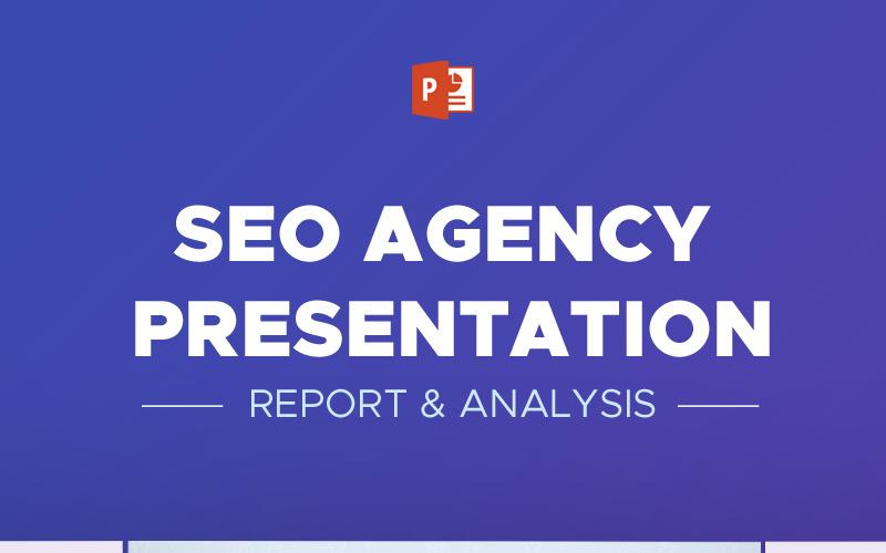 Raport i analiza agencji SEO - szablon PowerPoint