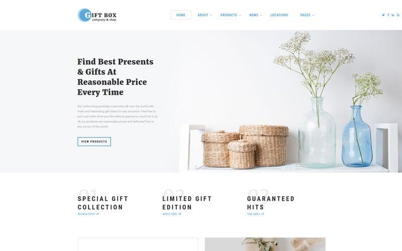 Caja de regalo - Plantilla de sitio web HTML5 de varias páginas para tienda de regalos