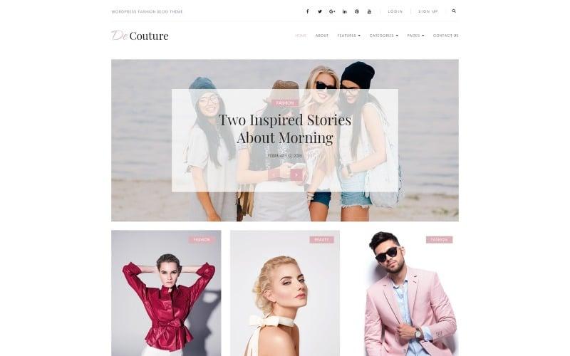 De Couture - Fancy Fashion & Beauty Blog WordPress Theme