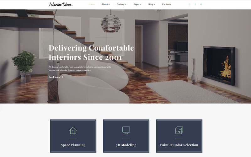 Décoration d'intérieur - Modèle de site Web Multipage HTML5 de design d'intérieur