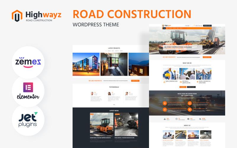 Highwayz - тема WordPress для дорожного строительства