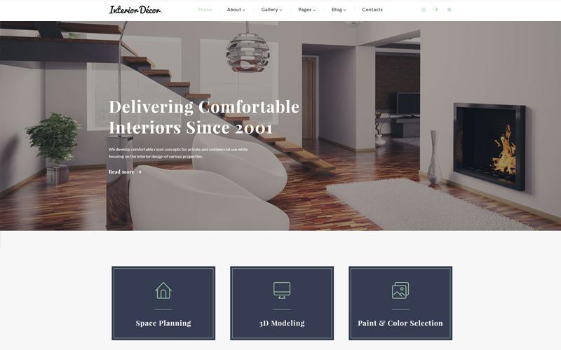 Lakberendezés - belsőépítészeti többoldalas HTML5-sablon