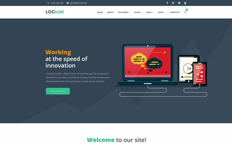 Logiciel - Szoftvertársaság WordPress téma