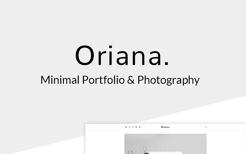Oriana - Minimalt portfölj & fotografi WordPress-tema