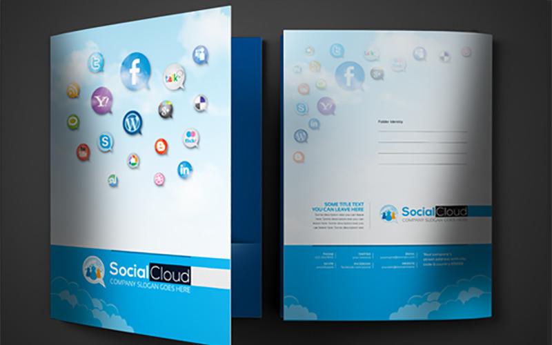 Папка для презентации в социальных сетях - - Шаблон фирменного стиля