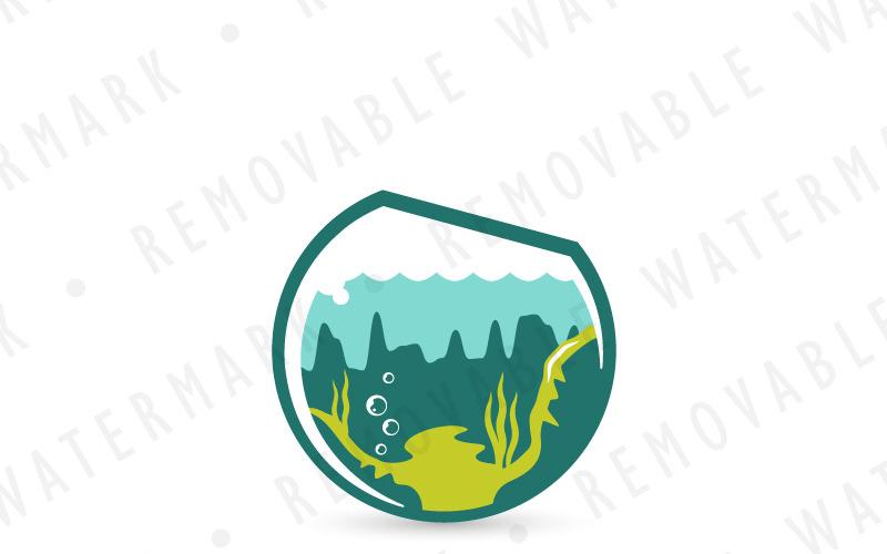 Шаблон логотипа Aquascaping Bowl