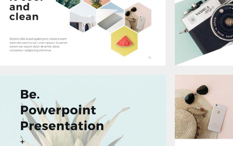 Be Presentation + 30 фотографий Бонус шаблон PowerPoint