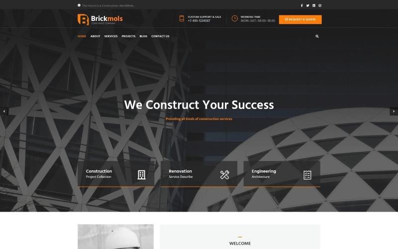 Brickmols - Tema WordPress de Empresa de Construção e Arquitetura Responsiva