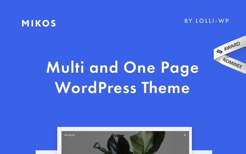 Mikos - многостраничная тема WordPress