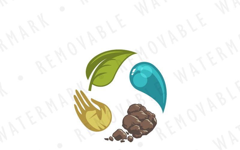 Шаблон логотипа преобразования сельского хозяйства