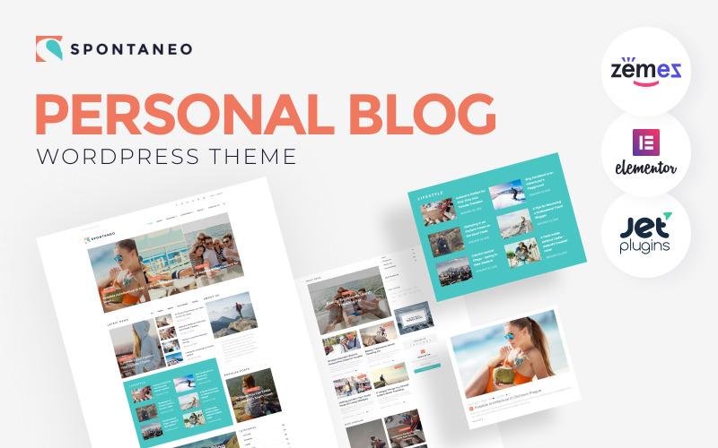 Spontaneo - Personal Travel Blog WordPress Theme