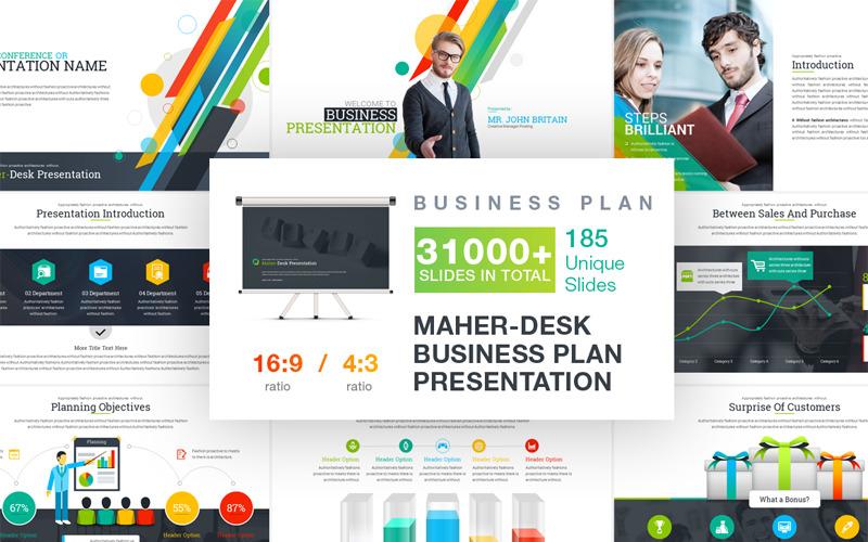 Maher - Desk Business Plan Szablon PowerPoint