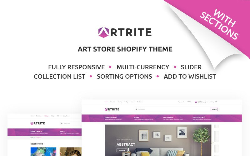Artrite - Marvelous Art & Paintings Online Store Shopify Theme