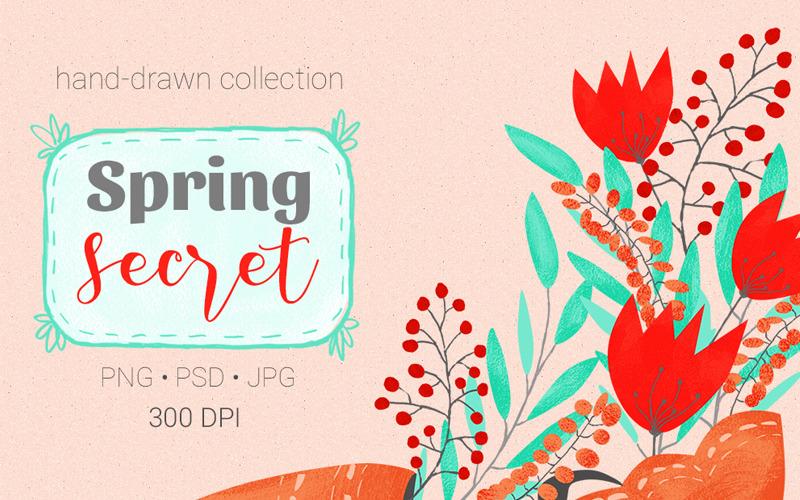 Colección Spring Secret - Ilustración