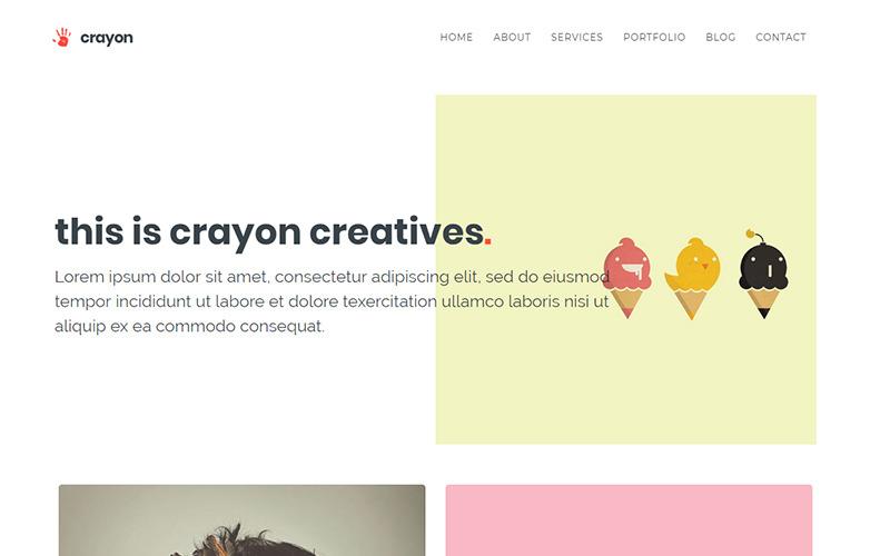 Crayon - Creative Portfolio Website Template