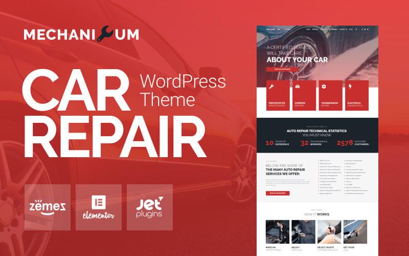 Mechanicum - тема WordPress для ремонта автомобилей Elementor