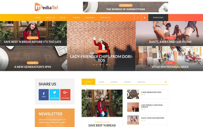 MediaTel - Youtube / Vimeo Video News Aggregator Magazin WordPress Theme
