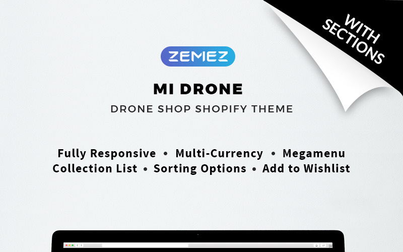 Mi Drone - Single Product Responsive Shopify Theme