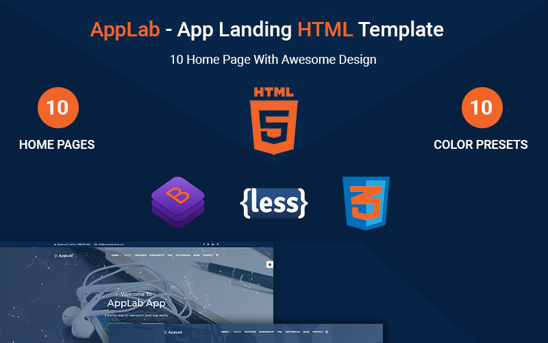 Trucking Responsive Landing Page Template