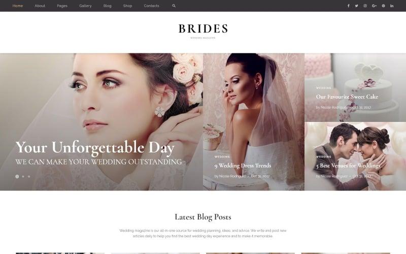 Brides - Wedding Magazine Multipurpose HTML Website Template