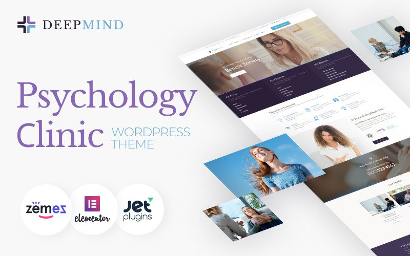 Deep Mind - WordPress-Theme der Psychologieklinik