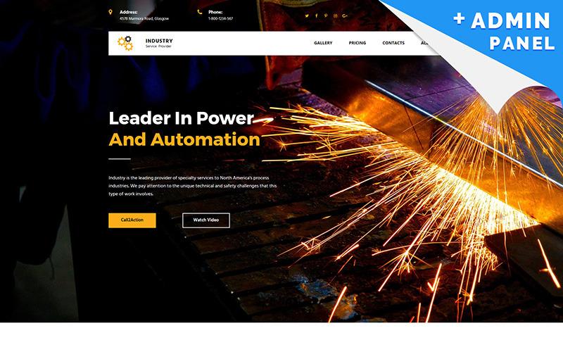 Endüstriyel Şirket MotoCMS 3 Açılış Sayfası Şablonu
