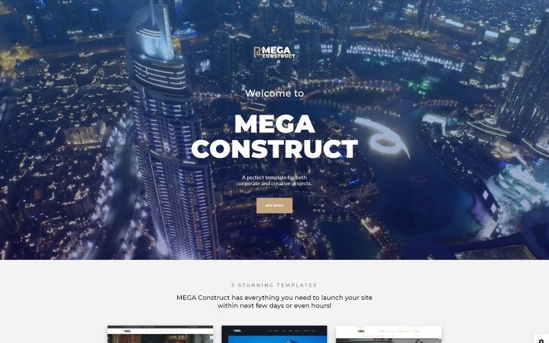 Mega Construct - Construction Company Multipage HTML5 Website Template