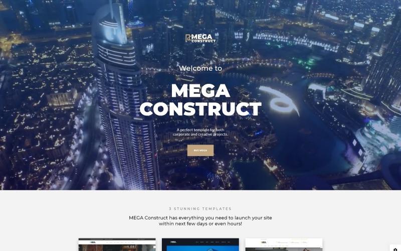 Mega Construct - Modelo de site HTML5 de várias páginas para construtora