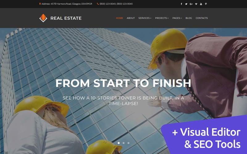 Real Estate - Architecture Design Moto CMS 3 Template