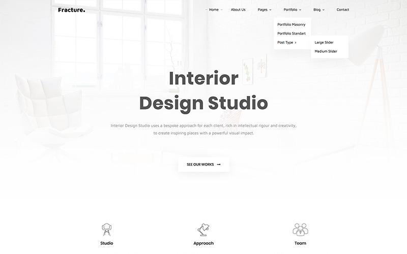 Törés   Építészet és belsőépítészet érzékeny webhelysablon
