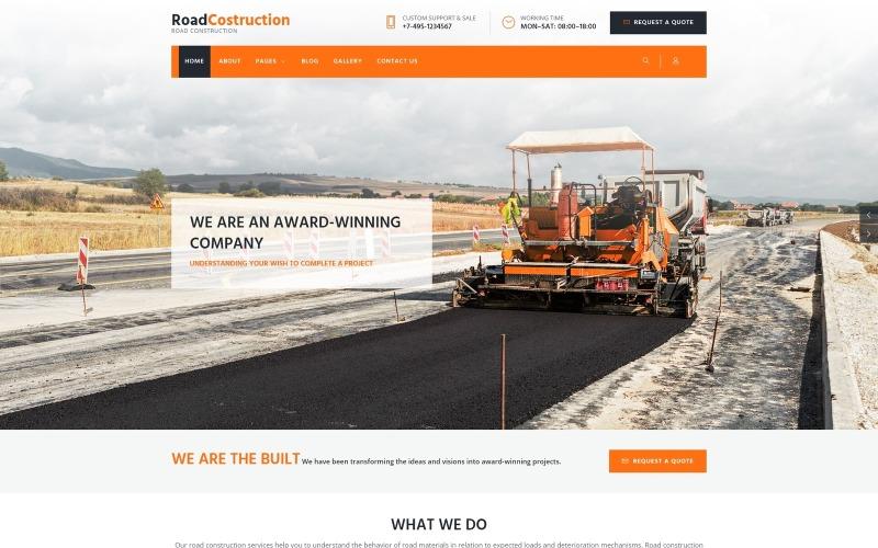 RoadLine - Шаблон Joomla для компании Solid Road Consrtuction
