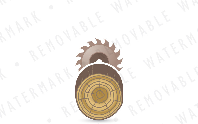 Шаблон логотипа лесозаготовки