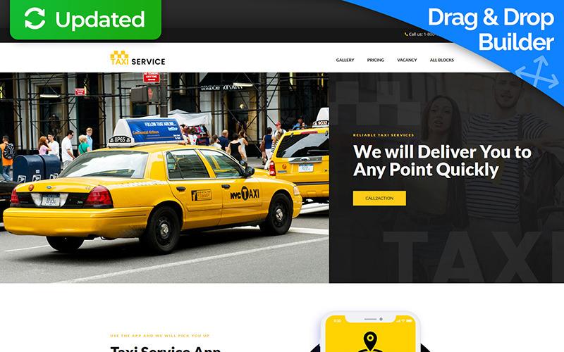 Taksi ve Taksi Rezervasyonu İniş Sayfası Şablonu